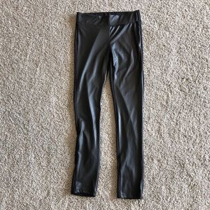 French Laundry black faux leather front leggings